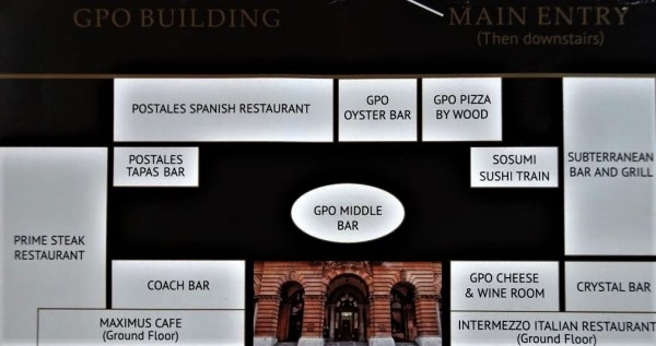 Sydney GPO dining options