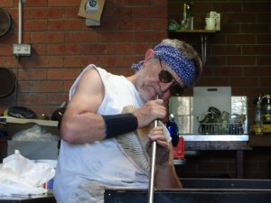 Glass blower Keith Rowe