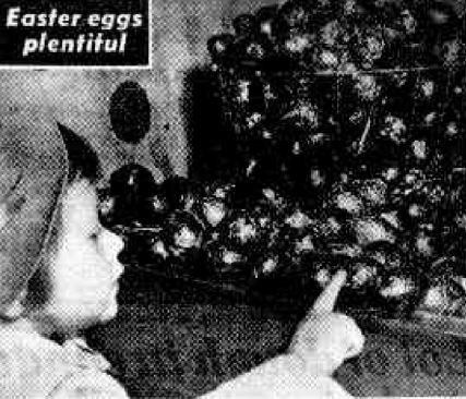 Window shopping for Easter eggs