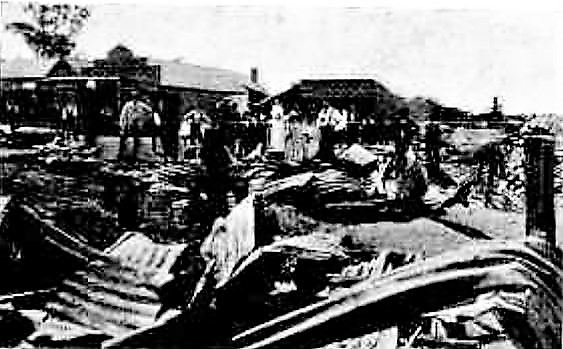 West Wyalong after the fire of 1899