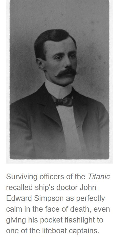 Dr John Stewart, lost on the Titanic