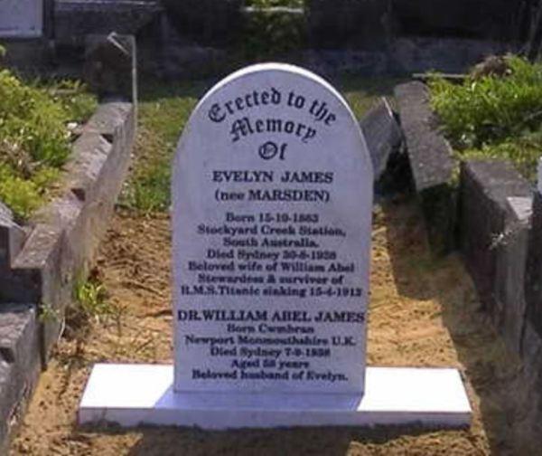 Evelyn James (nee Marsden) at rest with her beloved husband.