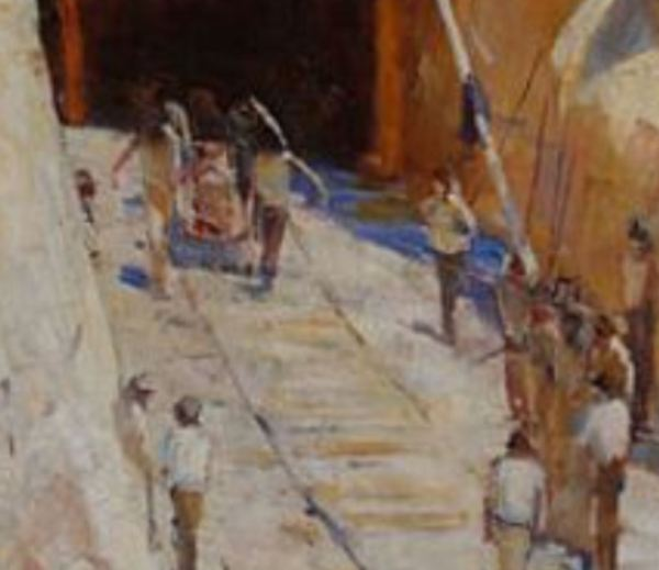 Glenbrook tunnel disaster as shown in Arthur Streeton's painting.
