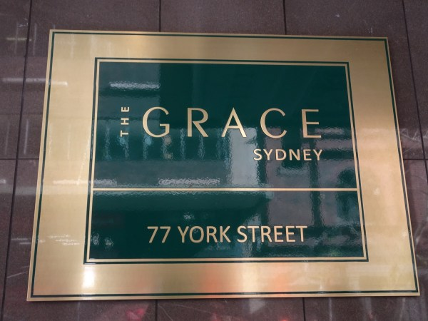 Name Plaque for The Grace