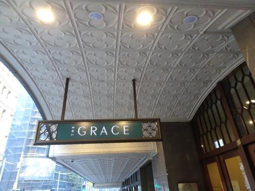 Outside the Grace Hotel.