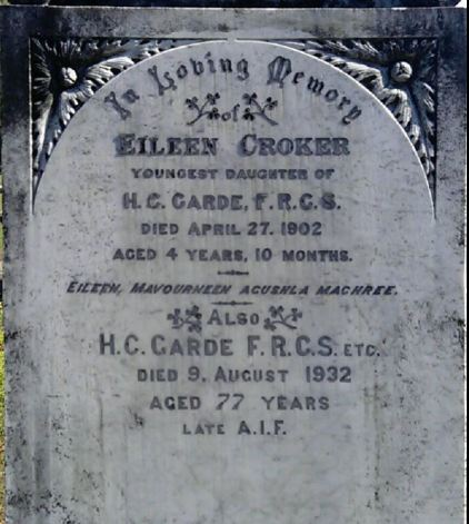 The grave of Dr H.C. Garde