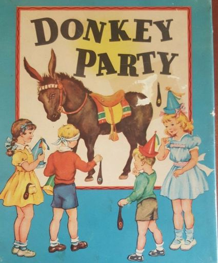 Pin the tail on the donkey...old stand-by for birthday parties