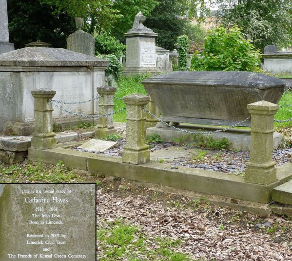 The grave of Catherne Hayes, subject of the lost portrait.