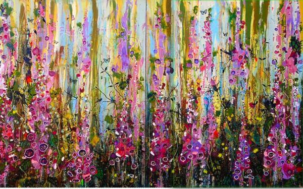 Digitalis (foxgloves) as art.