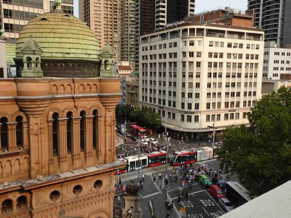 View from the Sydney Hotel QVB, the history buff's pefect location