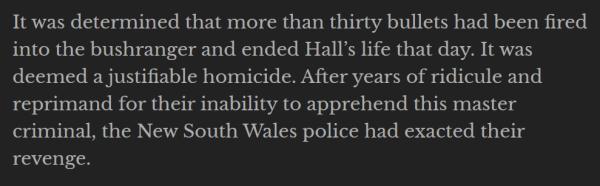 How bushranger Ben Hall met his end.
