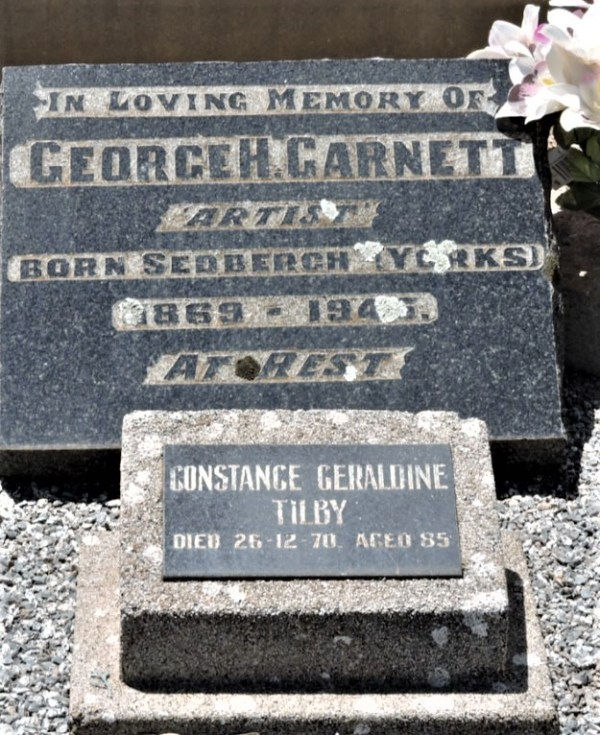 Grave of George Garnett, who acquired the Bunyan Bible in 1937.