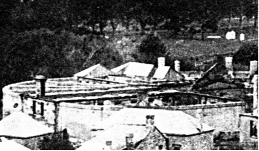 The Model Prison after the 1895 fire.