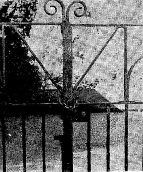 Locked  Catholic school gate at Goulburn.
