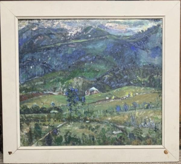 Mt. Wellington Evening by Edith  Holmes