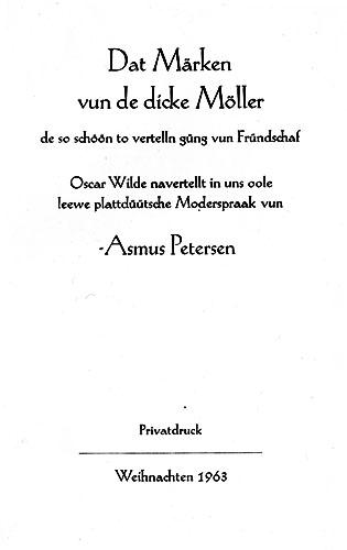 """Petersen """"Dat Märken"""""""