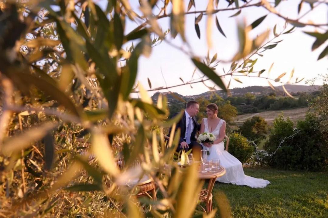 Pauline&Olivier couple mariage toscane Fonteleccino
