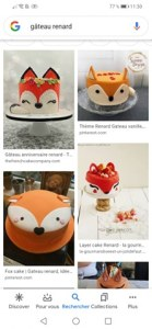 gâteau renard