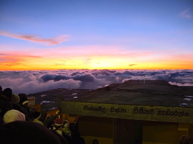 Backpacking in Sri lanka includes Sunrise at Adams Peak