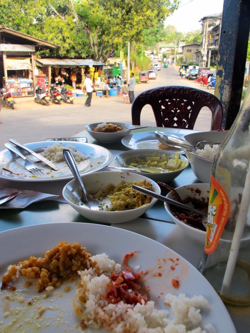 Ella in Sri Lanka with amazing local curry