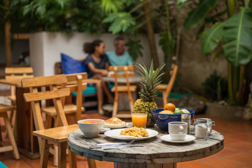 CASA VENITA has great breakfast with your choice of eggs, fruit, fresh juice and coffee or tea.