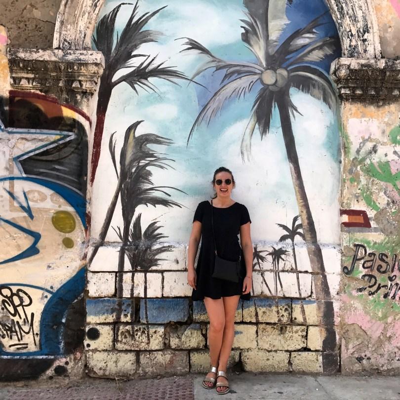 Cool street Art in Calle Larga in Getsemani