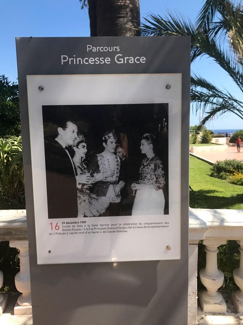 Princess Grace in Monaco in the center of Monte Carlo