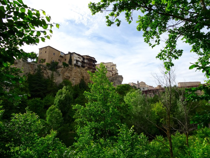 Cuenca with the hanging houses over the cliffs in 2018. Spain.