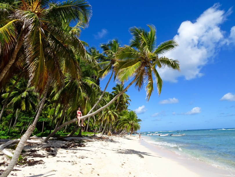 Playa Fronton in Las Galeras can be reached by boat or a hike. Must have a local guide. The Dominican Republic 2019