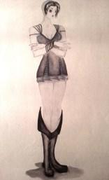 Female, size A4, aquarelle