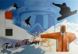 Snowboarding, moodboard, Corel Draw