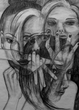 Transparency, A1, charcoal