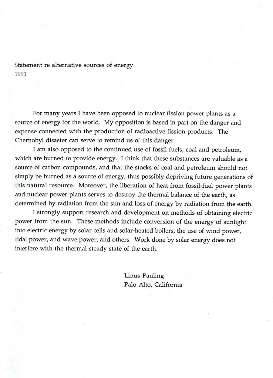 Alternative Sources of Energy,
