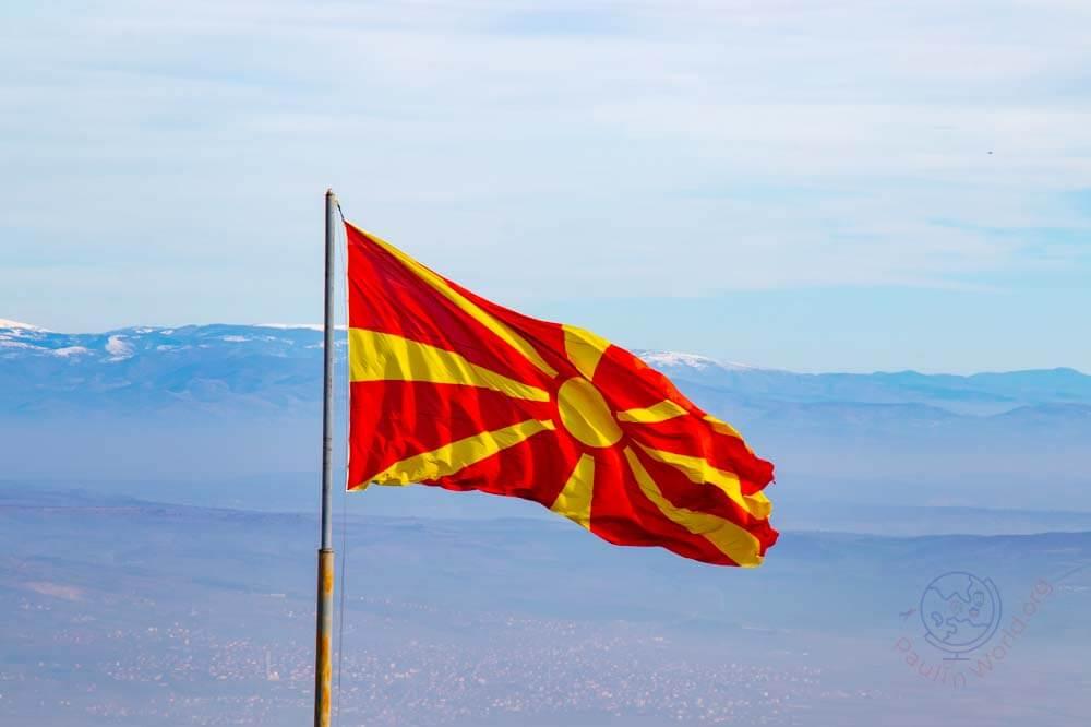 Macedonia national flag