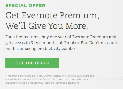 Evernote_-_Dropbox_Pro_special_offer