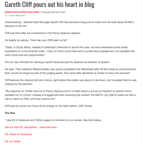 Gareth_Cliff_pours_out_his_heart_in_blog___IOL