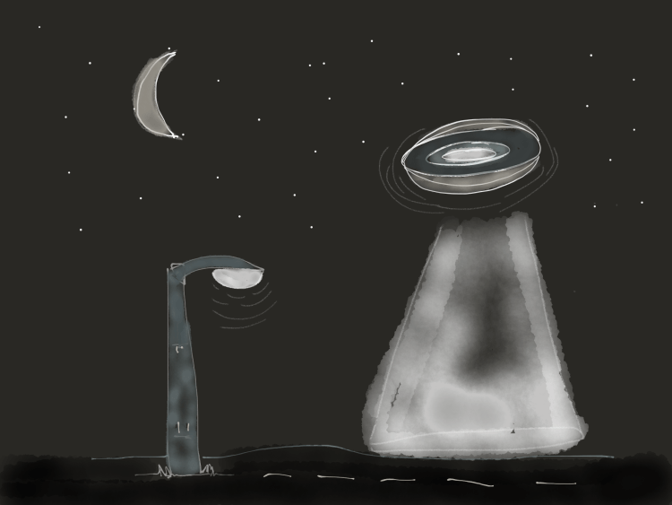 Flying saucer versus streetlight