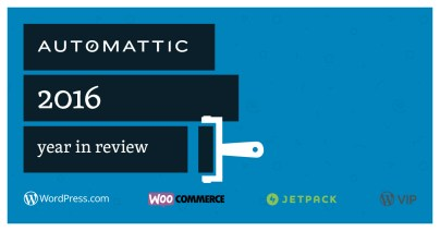 Automattic's 2016 Year Review banner image