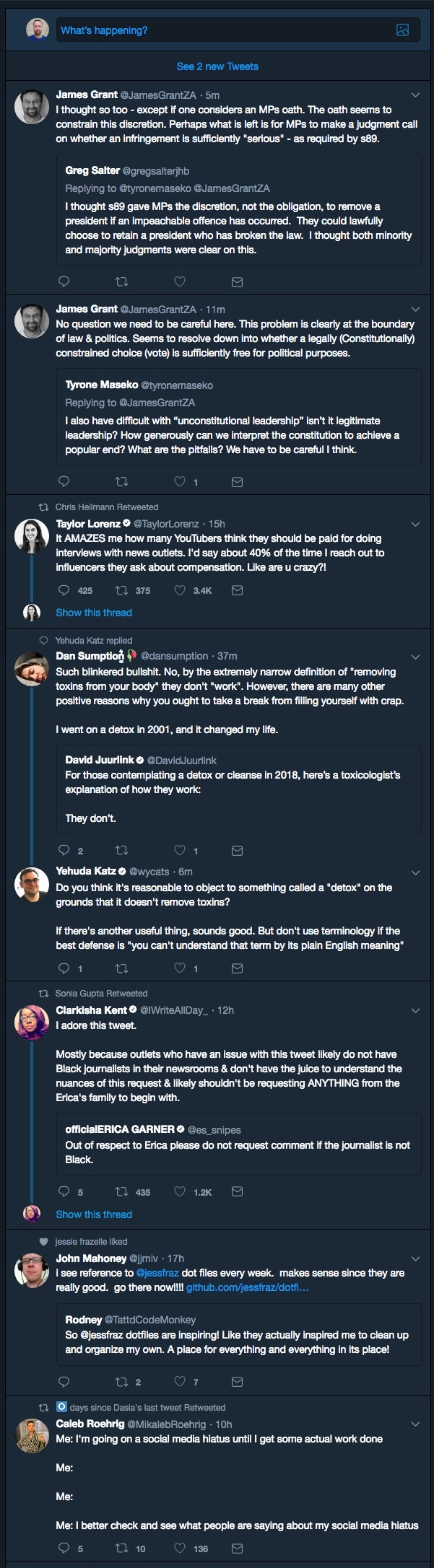 A sample of my mess of a Twitter feed.