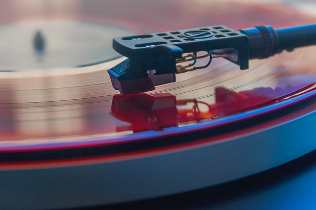 Vinyl record being played