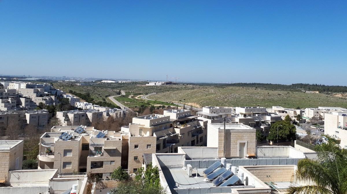 Modiin landscape on a warm, sunny day
