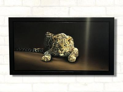 spotted leopard paul james original artwork