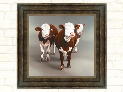 Cow Girls Original Cow Artwork Paul James Framed