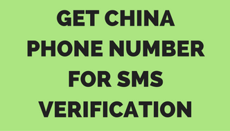 china phone number for sms verifiction