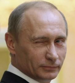 Vladimir Putin winks