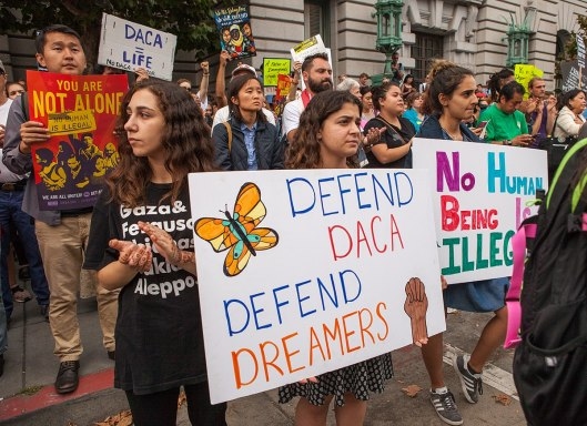 DACA protesters in San Francisco 5 September 2017