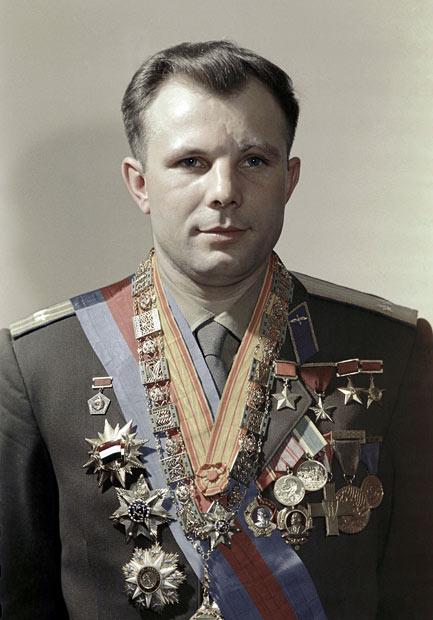 Yuri Gagarin portrait