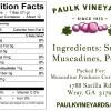 Paulk Vineyard Preserves Label Back