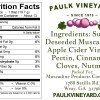 Paulk Vineyard Sauce Label Back