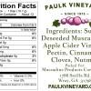 Paulk Vineyard Sauce Label Back